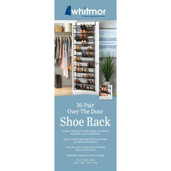 36-Pair Over-The-Door Shoe Organizer