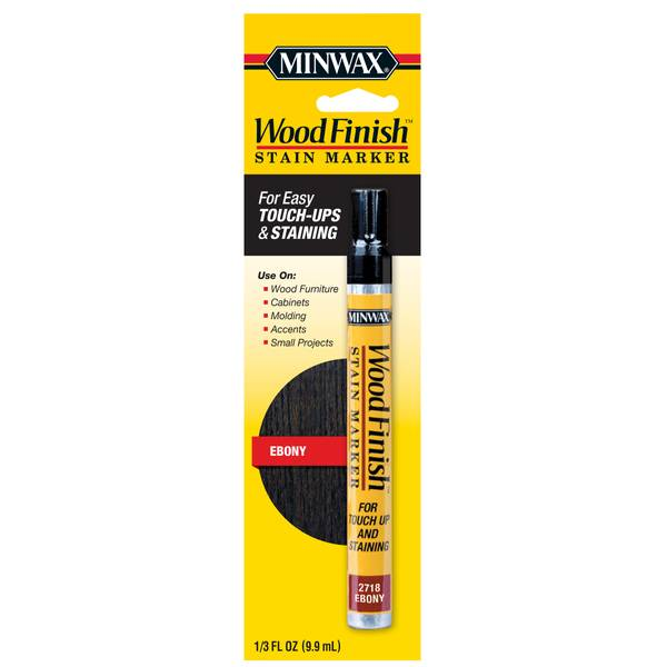 Ebony Finish Wood Stain Marker