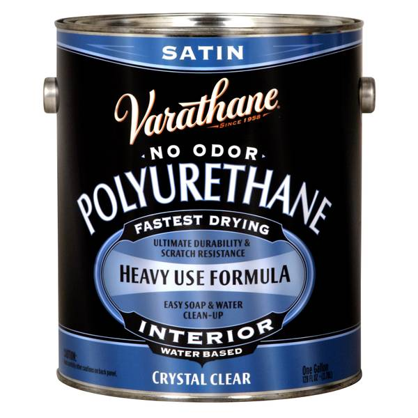 Crystal Clear Satin Water-Based Polyurethane