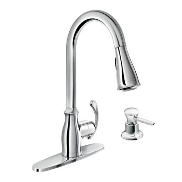 Kipton Chrome One-Handle Pulldown Kitchen Faucet