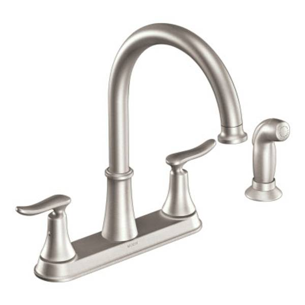 Moen Solidad Spot Resist Stainless Two Handle Kitchen Faucet