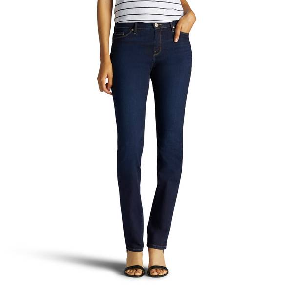 Misses Blue Energy Rebound Authentic Straight Leg Jeans
