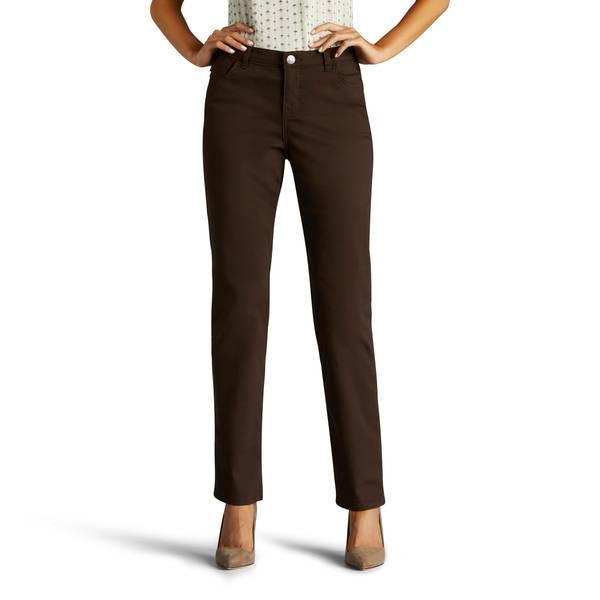 Misses Deep Chocolate Vivian Classic Straight Leg Jeans