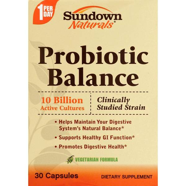 Sundown Naturals Probiotic Balance Reviews