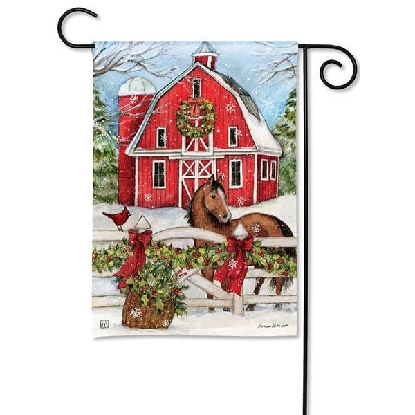 Christmas on the Farm Garden Flag
