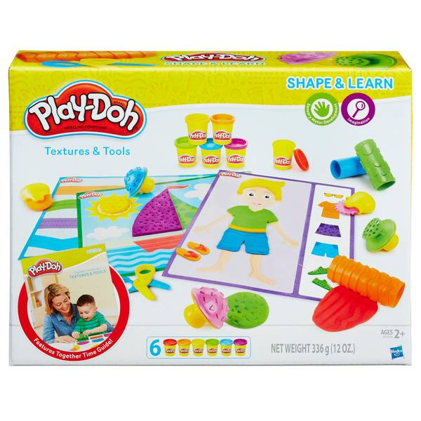 Play-Doh Shape & Learn Textures & Tools Playset