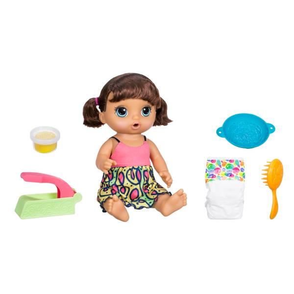 Snackin Noodles Baby Brunette Doll