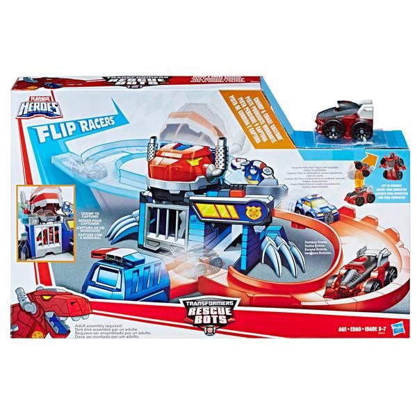 Transformers Flip Racers Chomp & Chase Raceway Playset