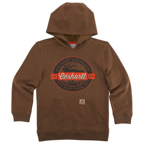 Big Boys' Brown Excursion Hoodie