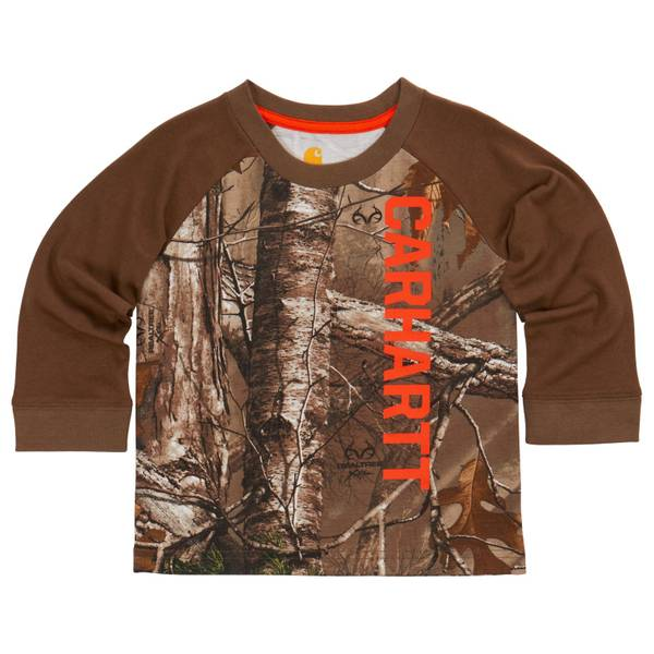 Toddler Boys' Realtree Xtra Camouflage Long Sleeve Raglan Tee