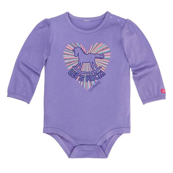 Infant Girls' Dahlia Blue Long Sleeve Let's Rock Tee