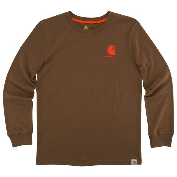 Little Boys' Brown Long Sleeve Expedition Tee