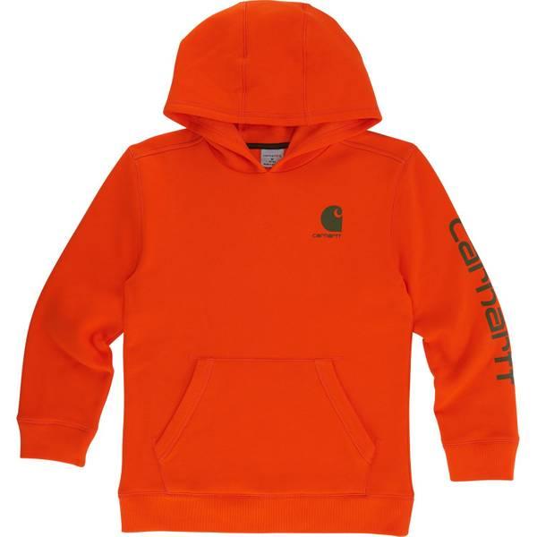 Little Boys' Blaze Orange Logo Hoodie