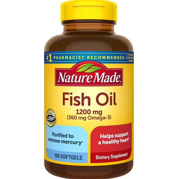 Nature made fish oil omega 3 softgels for Nature made fish oil 1200 mg 360 mg omega 3