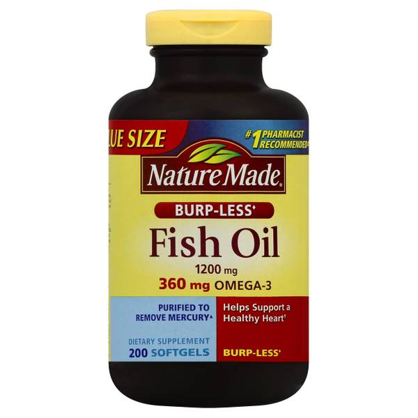 Nature made fish oil burp less liquid softgels for Nature made fish oil review