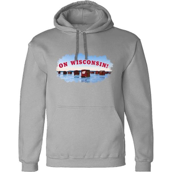 Men's On Wisconsin Ice Fishing Hoodie