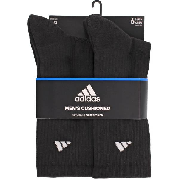 Men's Cushioned Crew Socks-6 Pack