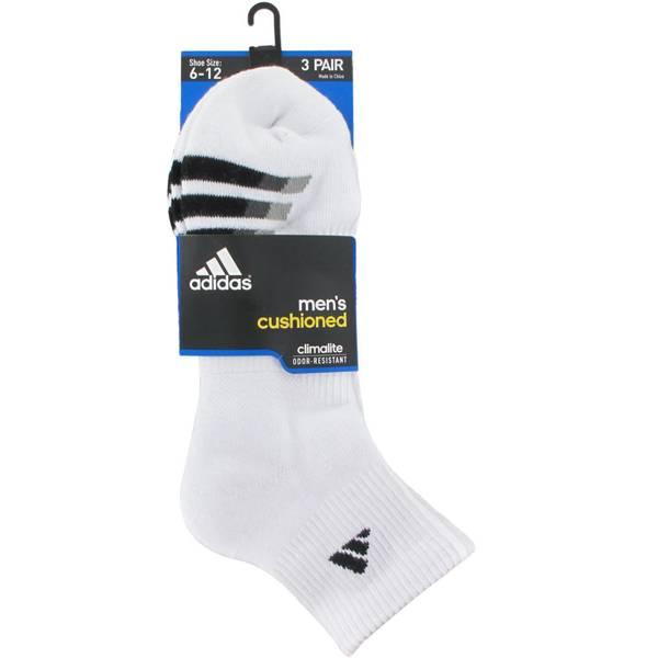 Men's Quarter Cushioned Socks - 3 Pack