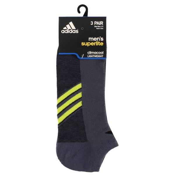 Men's Superlite No Show Climacool Socks - 3 Pack