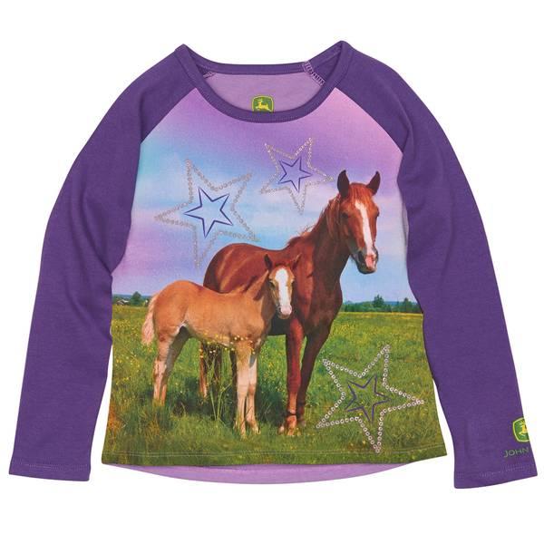 Toddler Girls' Horses Tee
