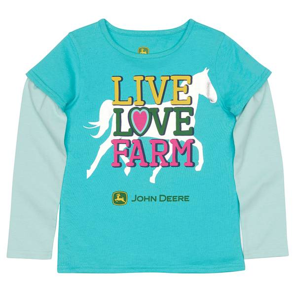 Girls' Live Love Farm Tee
