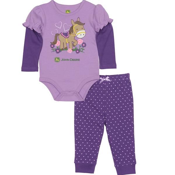 Baby Girls' Horse Pants Set