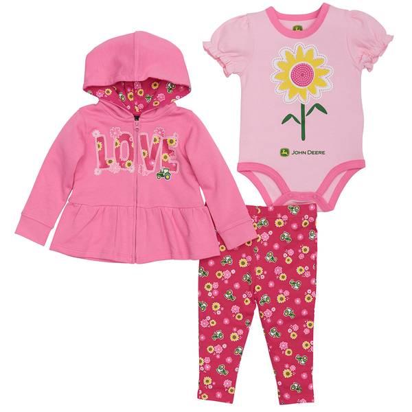 Baby Girls' Flower Hoodie Set