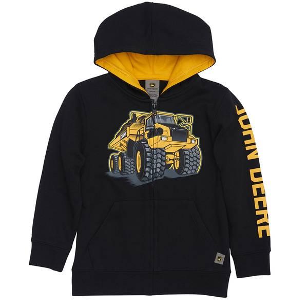 Boys' Dump Truck Full Zip Hoodie