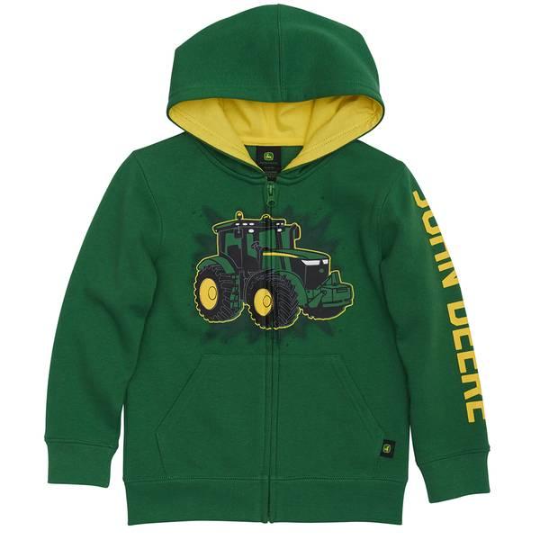 Boys' Tractor Full Zip Hoodie