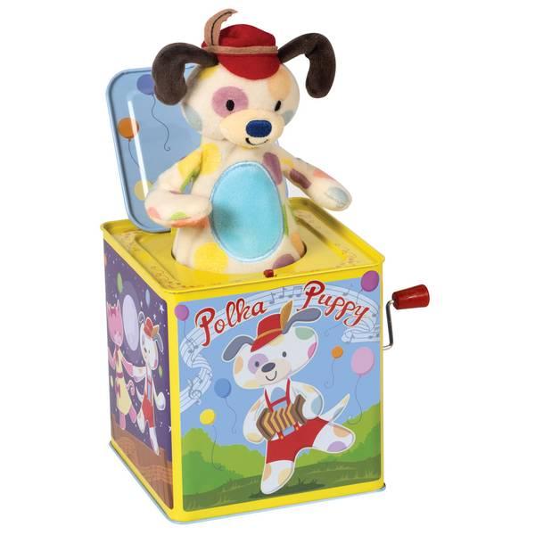 Polka Puppy Jack in Box