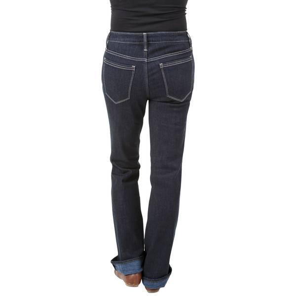 Misses Fleece Lined Regular Boot Cut Dark Wash Jeans