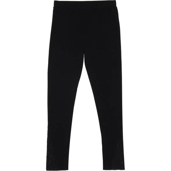 Big Girls' Black Lace Overlay Leggings