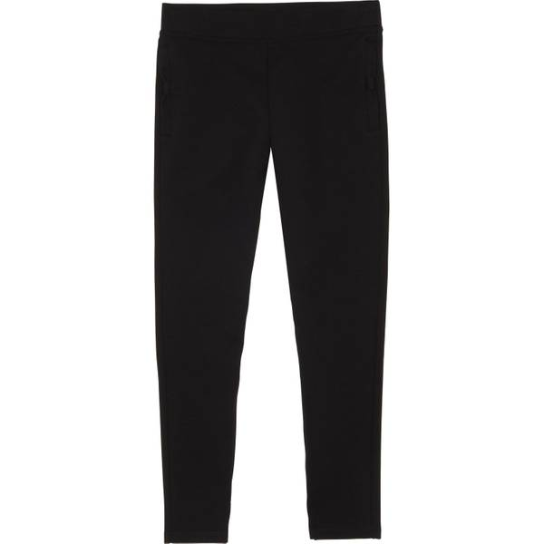 Big Girls' Black Bow Pocket Ponte Leggings