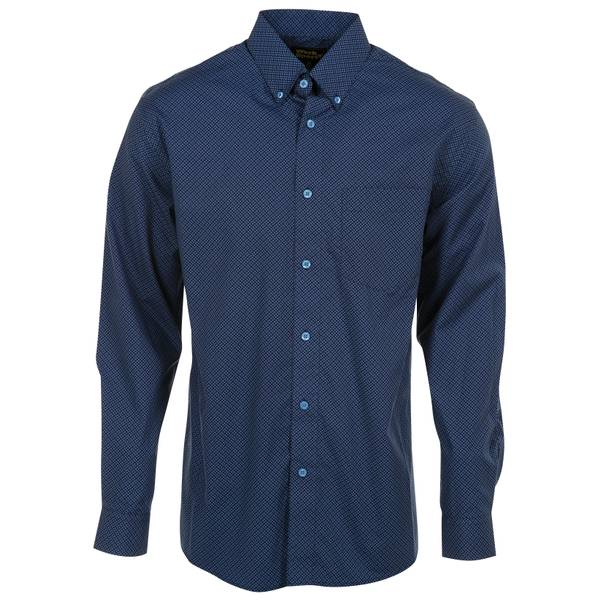 Work n' Sport Men's Navy & Royal Blue Button Down Shirt
