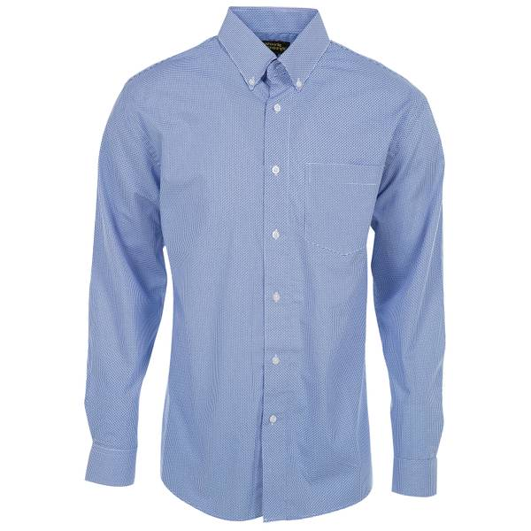 Work n 39 sport men 39 s royal blue white button down shirt for Blue button up work shirt