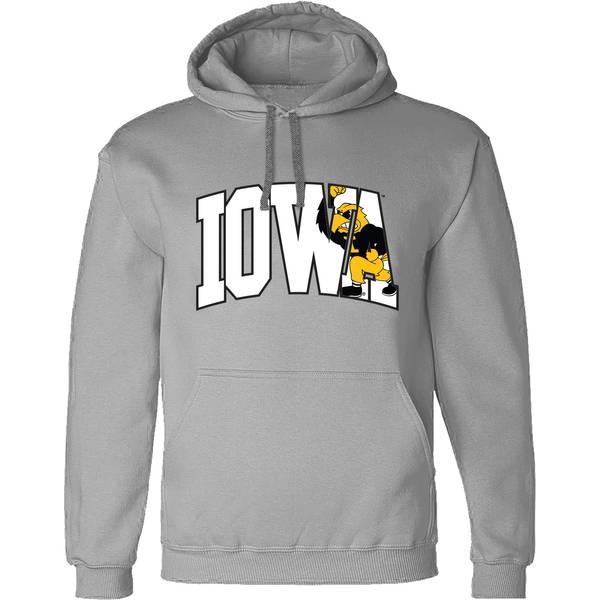 Men's Iowa Hawkeyes Herky Arch Hoodie