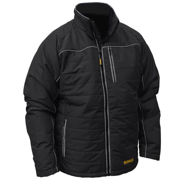 Men's Black Quilted Heated Work Jacket