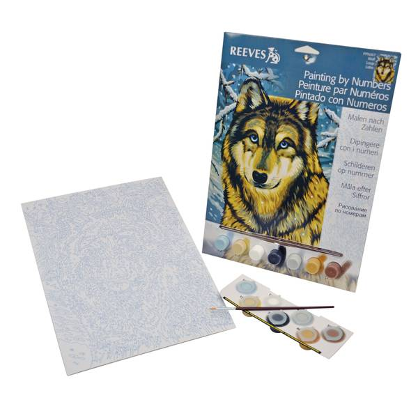 Wolf Paint by Number