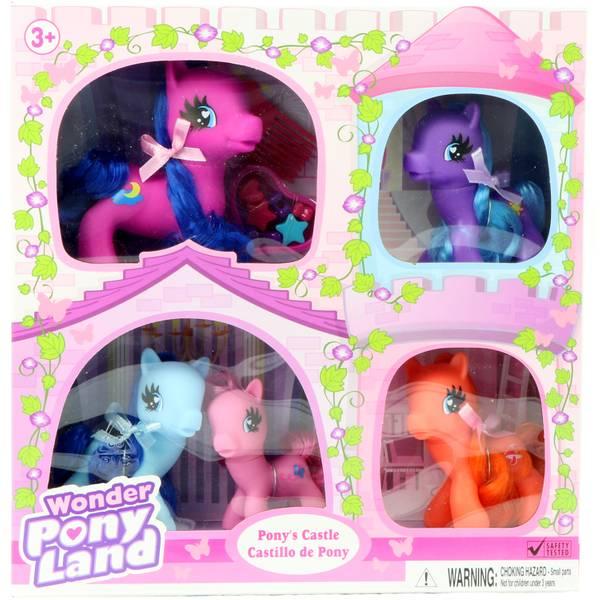 Wonder Pony Land Horse Family 5-Pack
