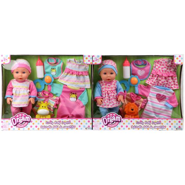 "12"" Lovely Baby with Layette Set Assortment"