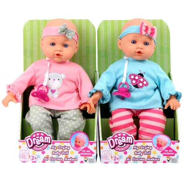 "14"" Crying Baby Doll Assortment"