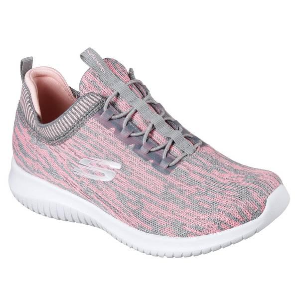 Women's Gray & Coral Ultra Flex - Bright Horizon Sneakers