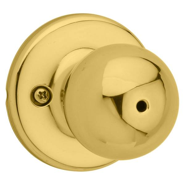 Polo Bed/Bath Knob in Polished Brass
