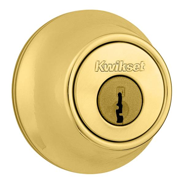 660 Single Cylinder Deadbolt in Polished Brass