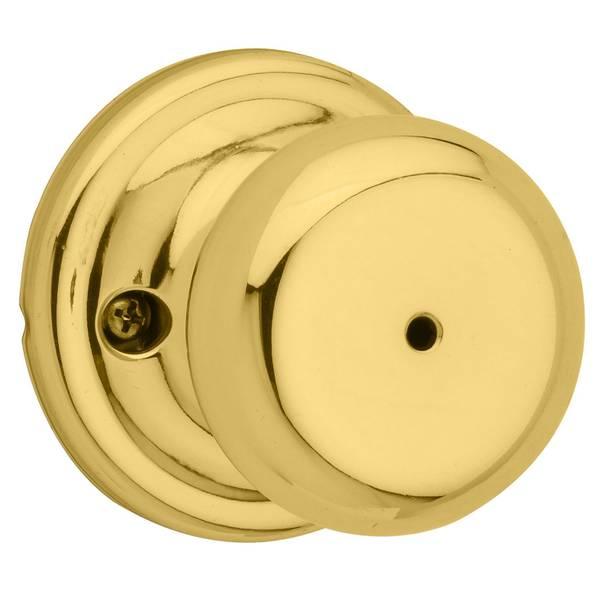 Juno Bed/Bath Knob in Polished Brass