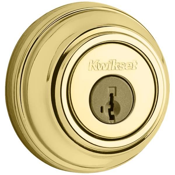 980 Single Cylinder Deadbolt featuring SmartKey in Polished Brass