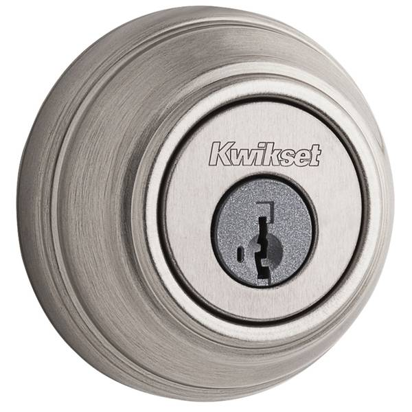 Kwikset 980 Single Cylinder Deadbolt Featuring Smartkey In Satin Nickel 99800 123 Blain S Farm Fleet