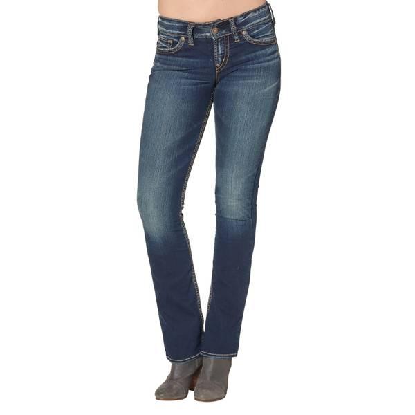 Misses' Dark Indigo Suki Mid-Rise Bootcut Jeans