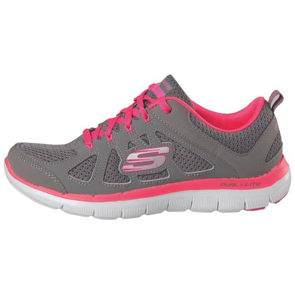 Women's Grey & Hot Pink Flex Appeal 2.0 Simplistic Athletic Shoes