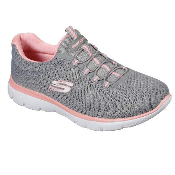 Women's Gray & Pink Summits Training Sneakers